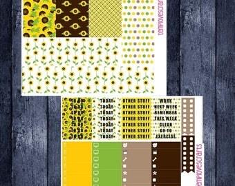 Weekend Sale Sunny Sunflower Set for Erin Condren Life Planner