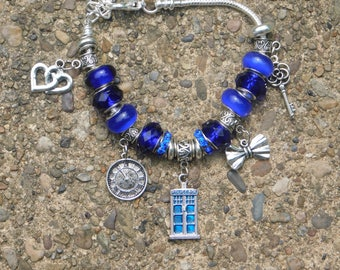Doctor Who TARDIS, Clock, Bow Tie, Key to the TARDIS Bracelet