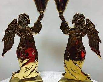 Vintage Carnevale Angel Candle Holder