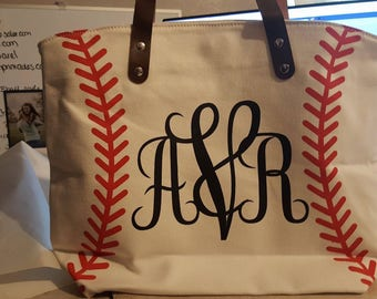 Personalized Tote Bags Soccer, Baseball, Football & Softball. Mom, Sport Bag