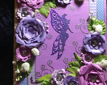 Lilac pink fairy journal
