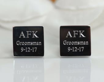 Groomsmen Cuff links | Groomsmen Proposal | Wedding Cuff links | Cuff links | Engraved Cuff links | Custom Cuff links
