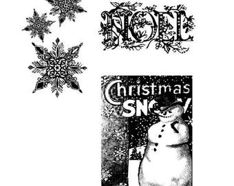 Tim Holtz WINTER WONDER Cling Stamp set STAMPERs ANONYMOUS CMS033 3 pc 1.cc11