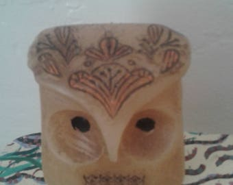 Vtg 60's Owl Wax Candle from Hallmark