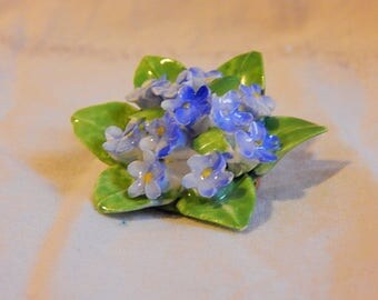 Vintage Jewelry Royal Adderley Floral Brooch, Forget Me Knot, Made in England