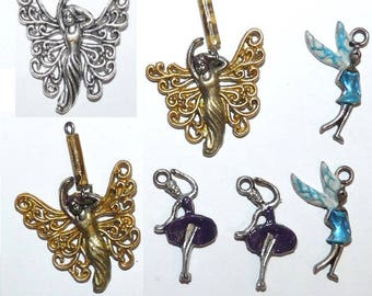 Set of goddess fairy Elves Angels charms for jewelry making