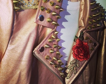 Rose Gold Studded Jacket
