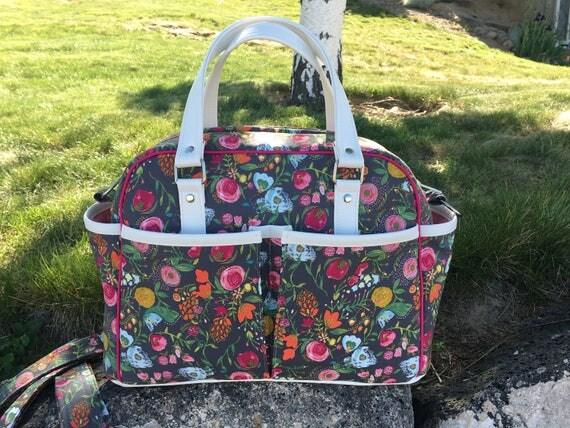custom diaper bag choose your own fabrics baby bag bag. Black Bedroom Furniture Sets. Home Design Ideas
