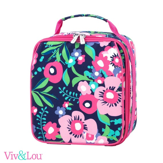 posie lunch box girls lunch bag monogrammed lunch bag personalized lunch bag kids lunch box back to school personalized lunch