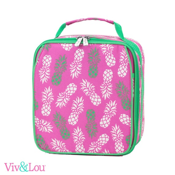 pineapple lunch box girls lunch bag monogrammed lunch bag personalized lunch bag kids lunch box back to school personalized lunch