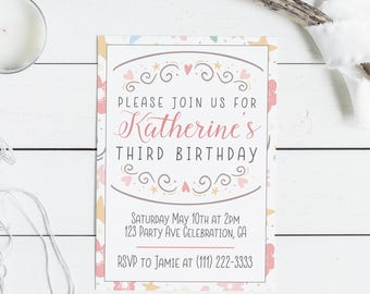 Editable Birthday Invitation Editable Birthday Invite Printable Invite  Birthday Invitation Template Birthday Invite Template  Invitation Birthday Template