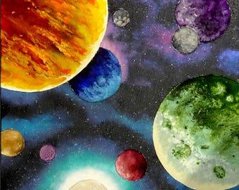 Unique Cosmic Space Art Board