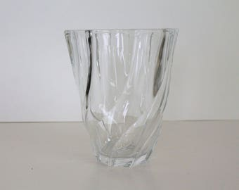 Vintage French LUMINARC  Glass Vase, Flower Vase, 1970's , Made In France