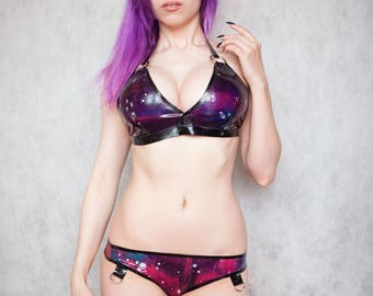 MADE TO ORDER. Galaxy latex bikini
