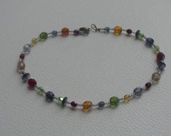 Retro Multi Colored Beaded Anklet