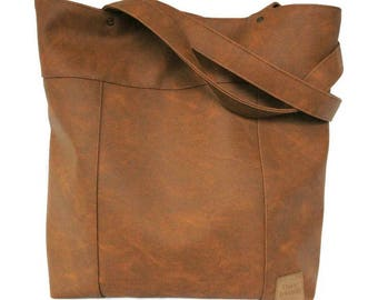 Shopper brown - big bag - brown fashion bag - brown shopper