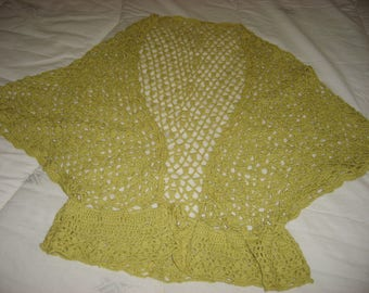 cotton crochet shoulder-warmer