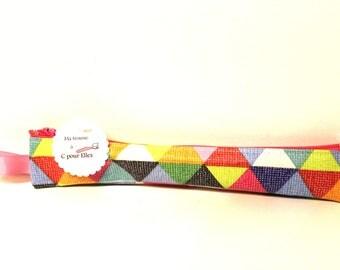Etui brosse à dents graphique multicolore