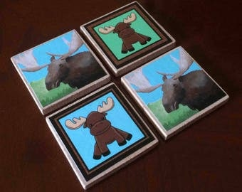 Moose Magnets (set of 4)