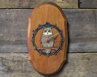 Vintage Owl Wall Clock, Retro Wall Clock