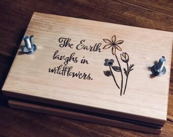 The Earth Laughs in Wildflowers Flower Press, Nature Study Kit, Great for Home School, Montessori, Reggio Emilia, Charlotte Mason Education
