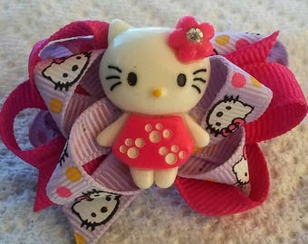 Cynthia Dog Bows PINK KITTY Boutique Bow
