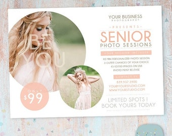 ON SALE Senior Marketing Board - Photoshop template - IS011 - Instant Download