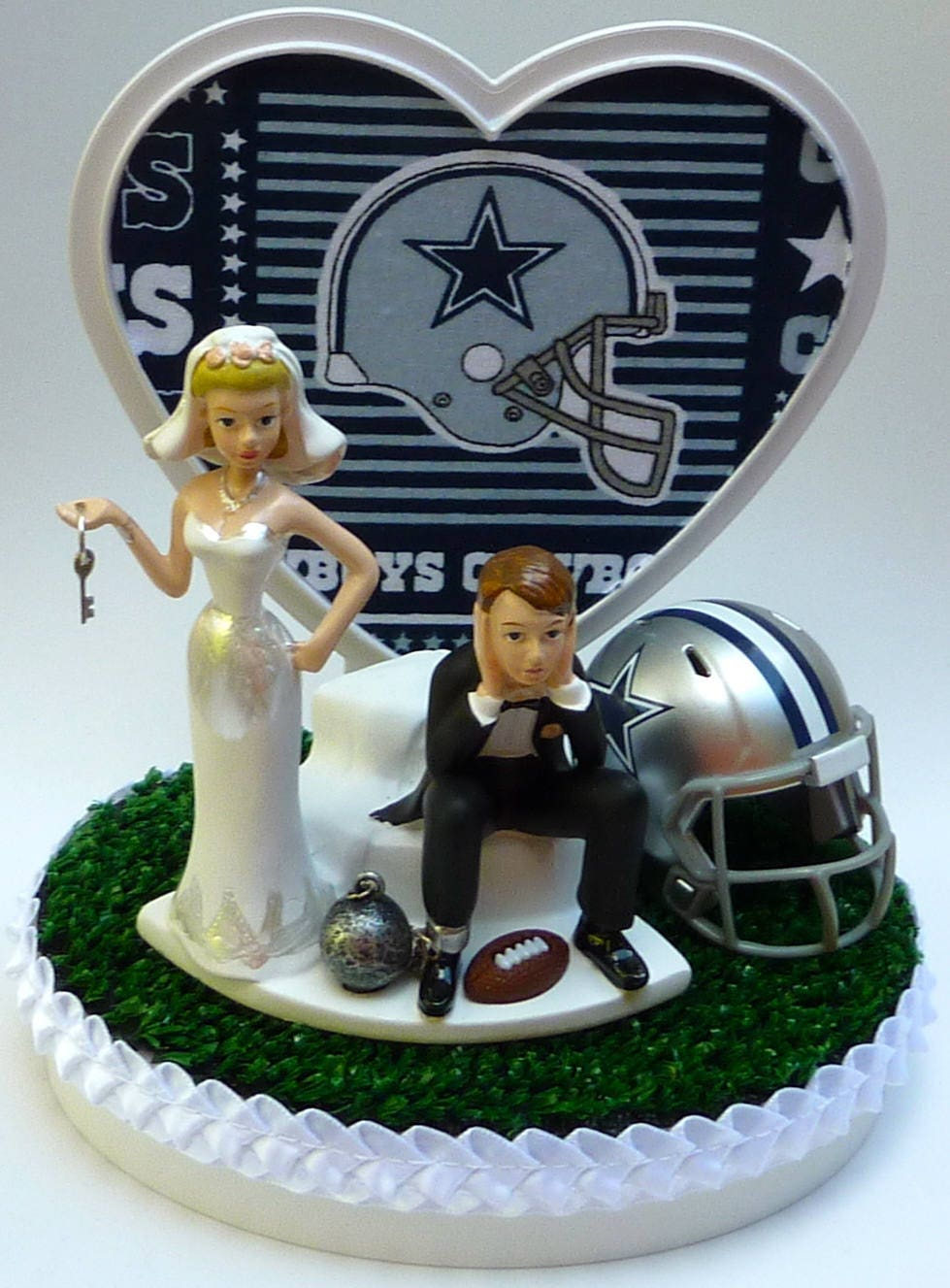 wedding cake toppers dallas tx wedding cake topper dallas cowboys football themed and 26447