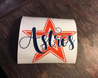 Houston Astros decal - astros decal - yeti cup decal - decals - Houston Astros - astros car decal