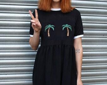 Palm Tree Ringer Dress
