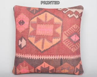 floor pillow cover 18x18 kilim pillow cover ethnic decor outdoor floor cushion moroccan cushion turkish throw pillow tapestry pillow 202-45