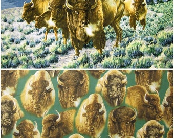 Buffalo Bison Cotton Fabric by Quilting Treasures! [Choose Your Cut Size]