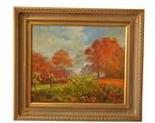 Ann Jackson Original Fall Landscape, Oil On Canvas, 20 x 24, PA4923