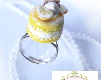 Lemon Macaron ring