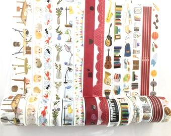14 Rolls(SET) Back To School Life campus Art Sports Animals Hamster Washi tape-15mmx7M/30mmX5M