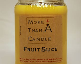 16 oz Fruit Slice Soy Candle