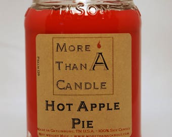 16 oz Hot Apple Pie Soy Candle