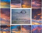10 High Res Fine Art Digital MORNING SKY Overlays