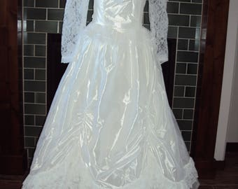 1970s Womens Jessica McClintock/Gunne Sax White Renaissance/Boho/Edwardian/Victorian  Lace Wedding Gown/70s White Bridal Ballgown Size Small