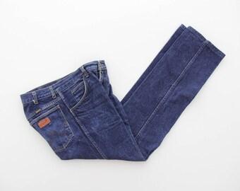 Vintage Jeans // 70s Wrangler Jeans // Dark Denim Trousers