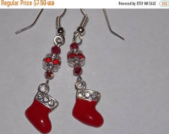 10%OFF Red Christmas Stocking Earrings