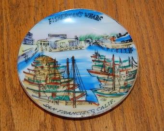 Vintage Collectible Plate, Fisherman's Wharf, San Francisco, California