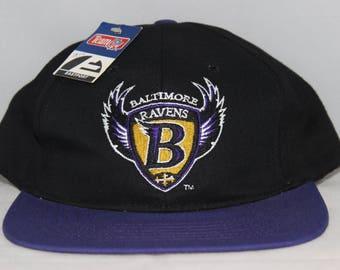 Vintage Deadstock Baltimore Ravens NFL Snapback Hat