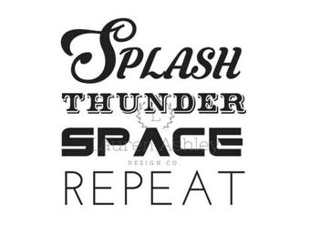 Splash Thunder Space Repeat PNG
