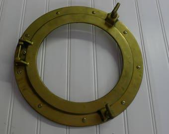 Brass porthole cover