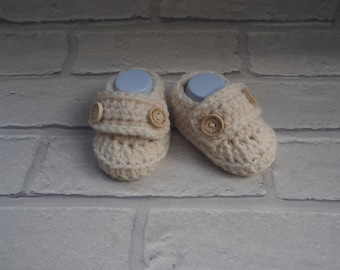 gender neutral booties/crochet baby booties/baby shower gift/baby loafers/baby loafer shoes/christening shoes/loafer booties/ new baby.