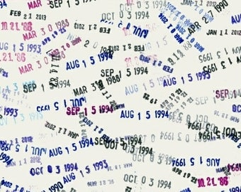 Windham Heather Givans Literary Library Cards in Yesterday Books Book White Blue Fabric BTY