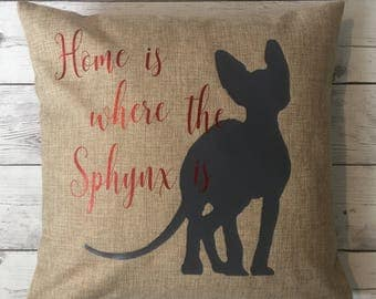 Sphynx pillow cover