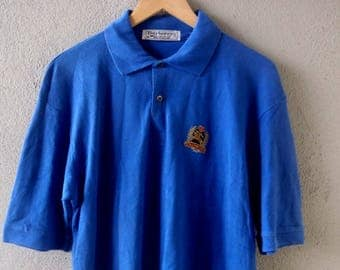 Vintage BURBERRYS Polo Shirt Collar Cotton sz M Made in England