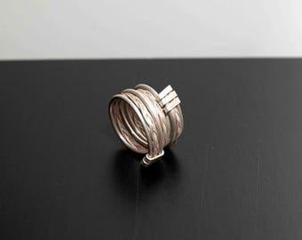 Triple braided band ring